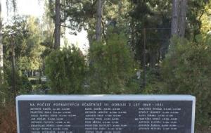 Brno-Štýřice. Pomník účastníkům třetího odboje popraveným v letech 1949–1951