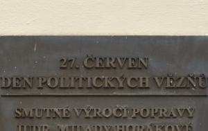Praha 7. Pamětní deska Dni politických vězňů