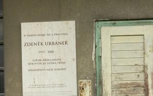Praha 6. Pamětní deska Zdeňku Urbánkovi