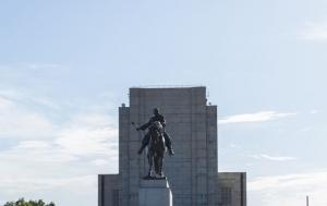Praha 3. Pamětní deska vojákům z povolání popraveným v letech 1949–1955