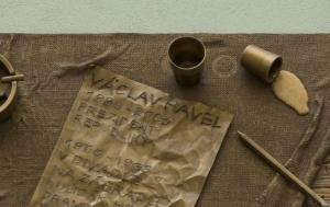 Praha 1. Pamětní deska Václavu Havlovi