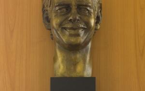 Plzeň. Busta Václava Havla