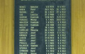 Praha 7. Pamětní deska popraveným příslušníkům Sboru národní bezpečnosti