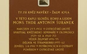 Blatnice pod Svatým Antonínkem. Pamětní deska Antonínu Šuránkovi