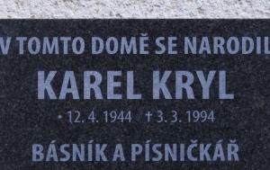 Kroměříž. Pamětní deska Karlu Krylovi