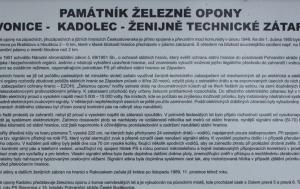 Kadolec. Památník železné opony