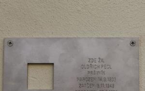 Praha 1. Pamětní deska Oldřichu Pelclovi