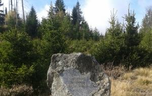 Modrava-Březník. Pomník obětem komunistické zvůle
