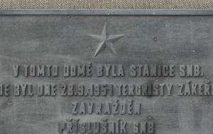 Čelákovice. Pamětní deska Jaroslavu Honzátkovi